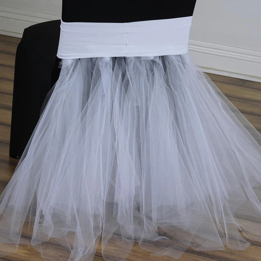 tulle chair covers for wedding top desk chairs white ballerina spandex tutu skirts efavormart