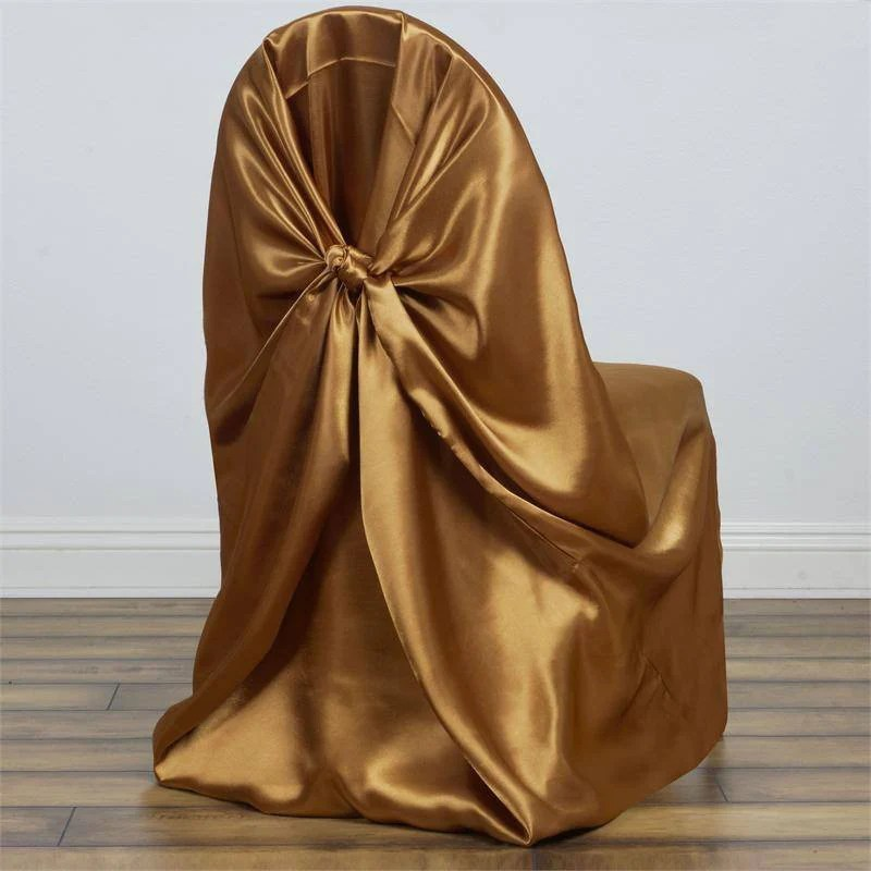 gold universal chair covers linen parsons satin efavormart