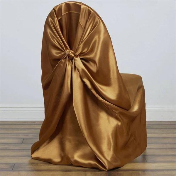 bulk satin chair covers gravity accessories wholesale efavormart gold universal