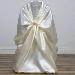 Chair Covers Ivory Swivel Ireland Universal Satin Efavormart An Error Occurred