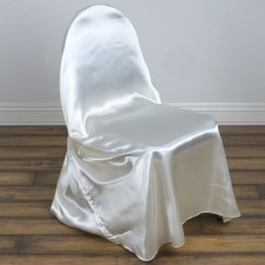 Ivory Wedding Chair Covers For Sale Hanging Range Universal Satin Efavormart