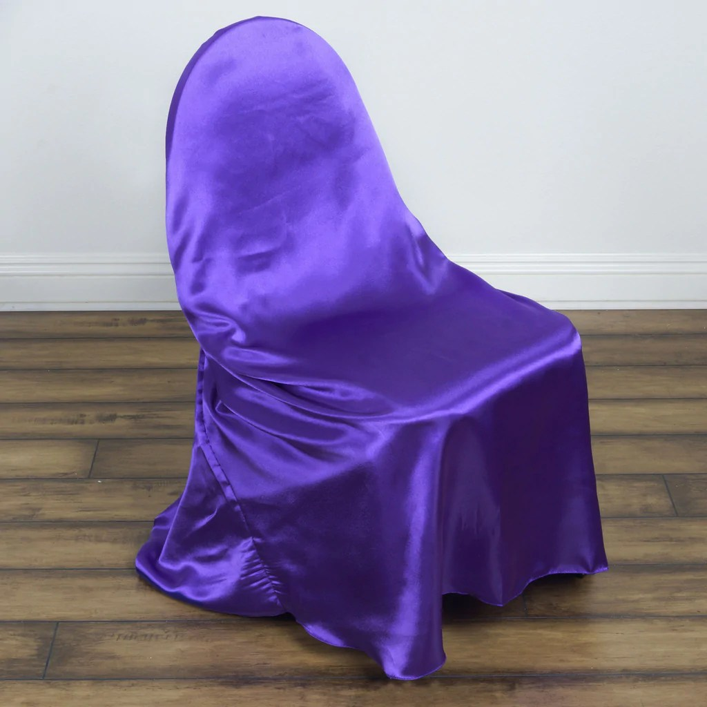 purple chair sashes for weddings bedroom on gumtree universal satin covers efavormart
