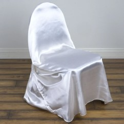 Chair Covers Yes Or No Ikea Papasan White Universal Satin Efavormart