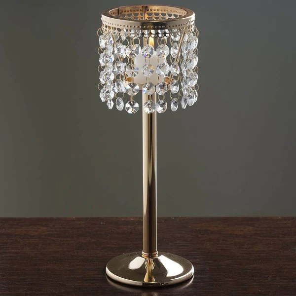 115 Gold Stunning Metal Votive Tealight Crystal Candle