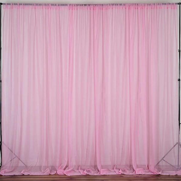 Ivory Fire Retardant Sheer Organza Premium Curtain With