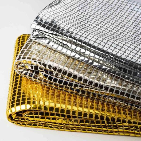 DASHING Mirror Foil Fabric Bolt  35 x 10yards Silver