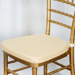 Wholesale Chiavari Chairs For Sale Metal Retro 2 Quot Thick Cushion Beechwood Ivory