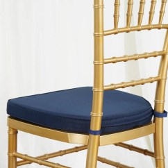 Wholesale Chiavari Chairs For Sale Chair Beds Cheap 2 Quot Thick Cushion Beechwood Navy Blue