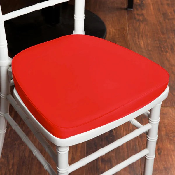 wholesale chair cushions modway articulate office party furniture efavormart 2 thick red chiavari cushion for beechwood chairs