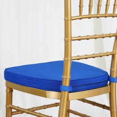 Royal Blue Chair Covers Steel Tan Beechwood Chiavari Cushion Efavormart