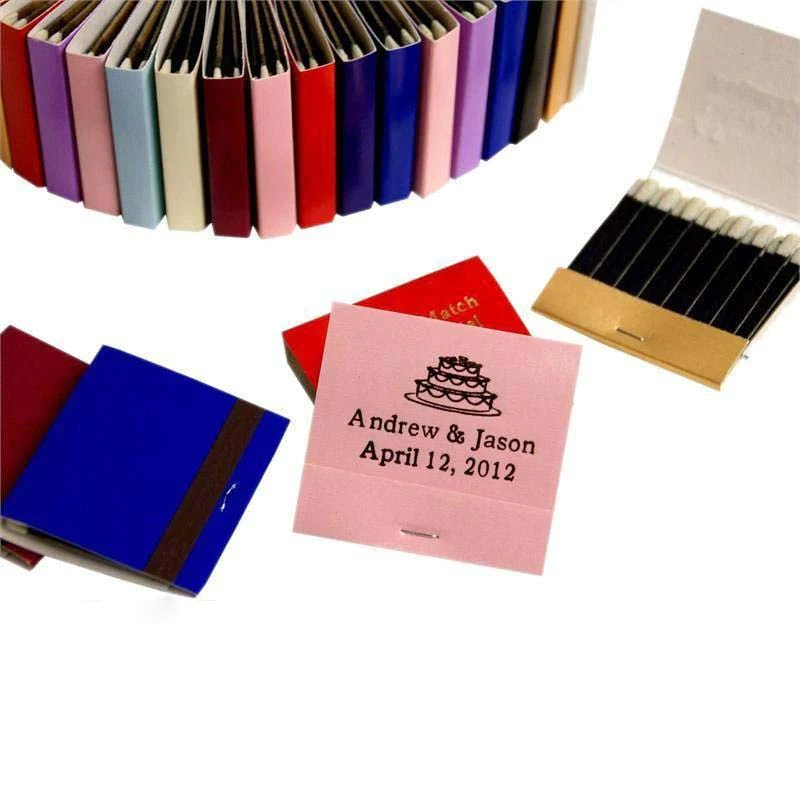 Pack Personalized Matchbook Wedding Favors With 30 Stem