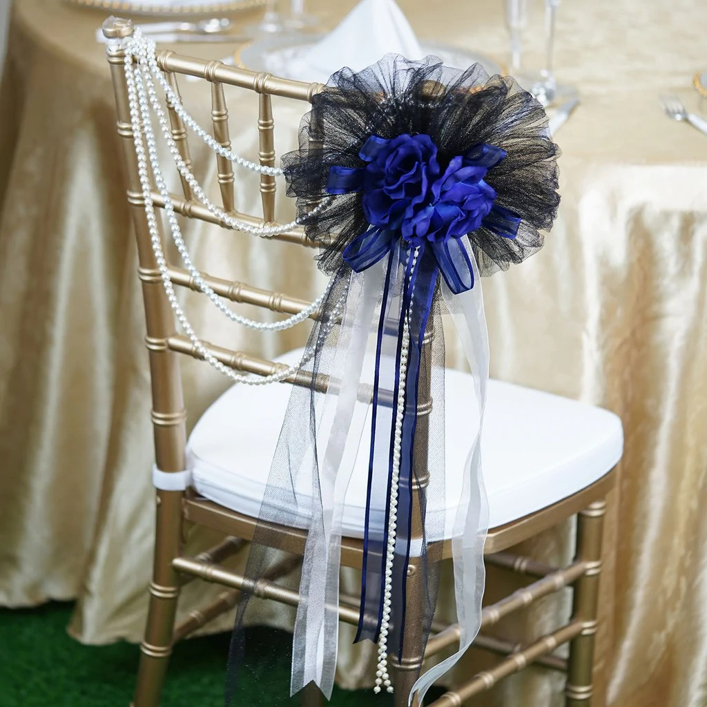 advanced church chairs revolving chair hardware 24 quot satin organza ribbon pearl string with double silk