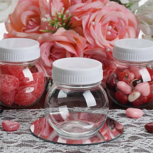 universal chair covers wholesale used computer chairs 6 oz plastic clear containers candy beverage favor jar with white cap - 12 pcs ...