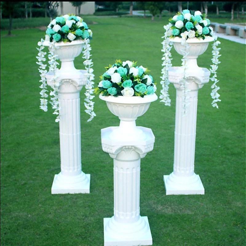 Naples Inspired Pvc Flower Pot 8 Pk - White Efavormart