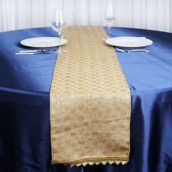 Gold Universal Chair Covers Hunting Chairs For Big Men Wholesale Polka Dots Natural Burlap Jute Table Runner Wedding Party Decoration ...