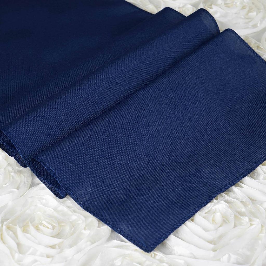 Navy Blue Polyester Table Runner EFavorMart