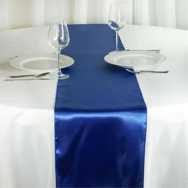 Royal Blue Satin Table Runner  eFavorMart