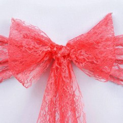 Coral Sashes For Wedding Chairs Fiberglass Shell Chair Lace Sash 6 Quotx108 Quot 5pcs Efavormart
