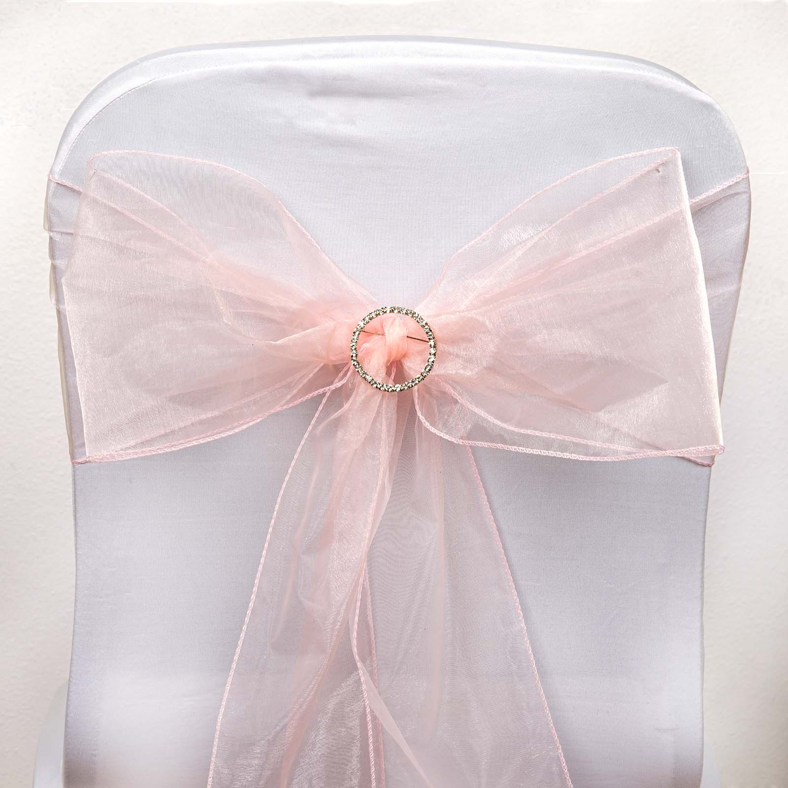 blush chair sashes recliner covers adelaide 5 pcs wholesale sheer organza tie bows