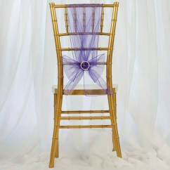 Purple Chair Sashes For Weddings Office Lubricant 5 Pcs Wholesale Sheer Organza Tie Bows
