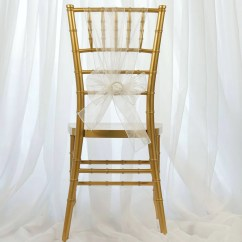White Chair Sashes Best Office After Neck Surgery Organza Sash Efavormart