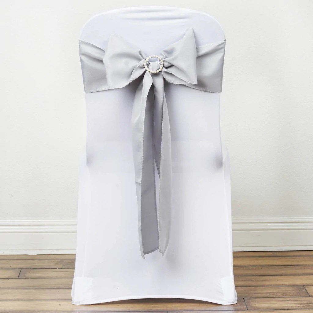 chair covers and bows bridgend gray glider silver polyester sash efavormart