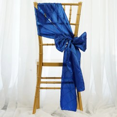 Royal Blue Chair Sashes Desk Chairs For Teens 5 Pcs Pintuck Catering Wedding