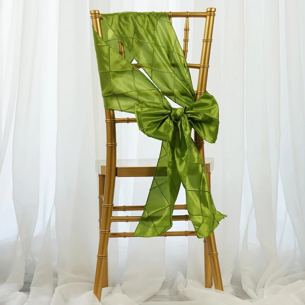 chair covers sage green fishing mechanism pintuck sash efavormart