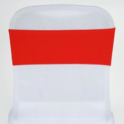 Red Spandex Chair Sashes Kohls Rocking Cushions 5 Pcs Wholesale Stretch Sash Catering
