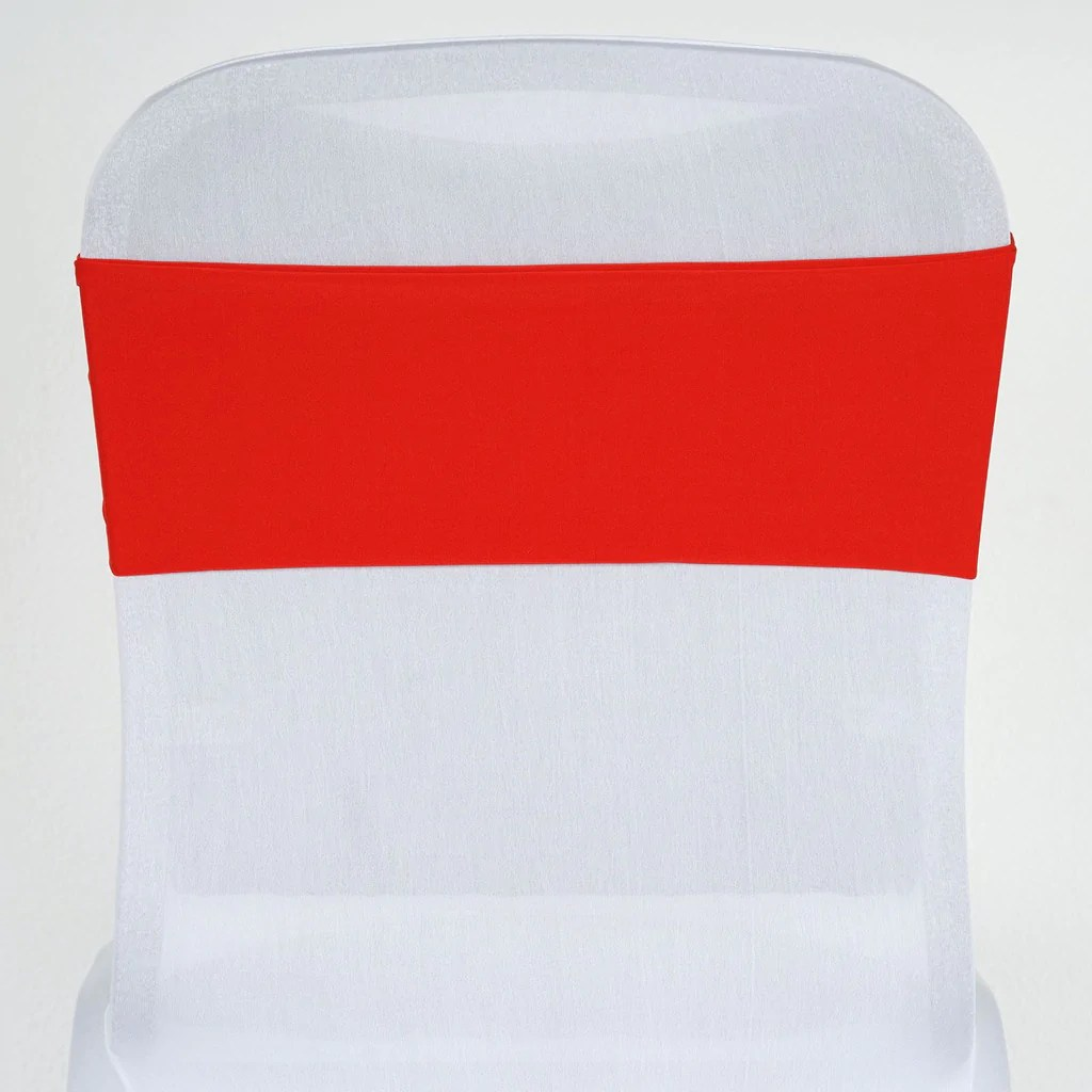 Red Chair Sashes 5 Pcs Wholesale Red Spandex Stretch Chair Sash Catering