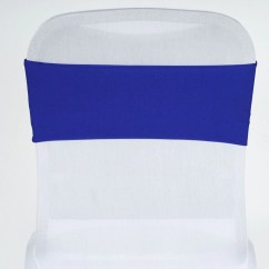 Royal Blue Chair Sashes Posture Support Cushion Sexy Spandex Sash Efavormart