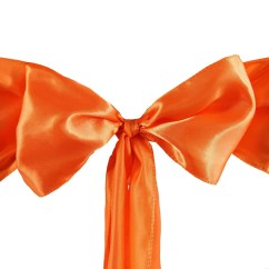 Coral Sashes For Wedding Chairs Bar Height Table And Outdoor 5 Pack 6 Quotx106 Quot Orange Satin Chair Sash Efavormart