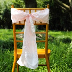 Blush Chair Sashes Black And White Chairs Living Room 5 Pcs 6x108 Quot Taffeta Crinkle Efavormart