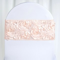 Blush Chair Sashes Swing In Chennai 5 Pack 6 Quotx12 Quot Satin Rosette Spandex Stretch