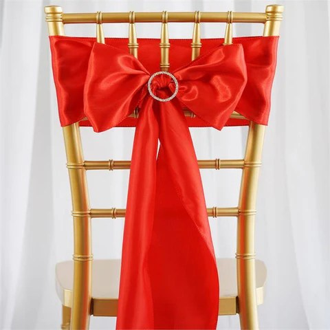 decorative chair covers for sale used dining chairs wholesale efavormart satin sash red event decoration supplies 5pcs 6 x 106