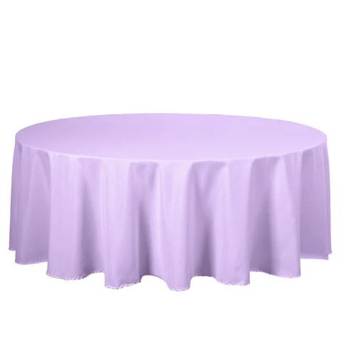 108 lavender polyester round tablecloth efavormart