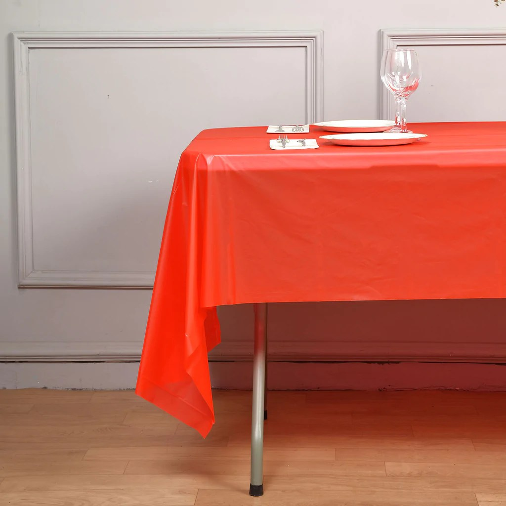 disposable plastic chair covers for parties baby high argos 54 quotx108 quot wholesale red 10mil thick waterproof