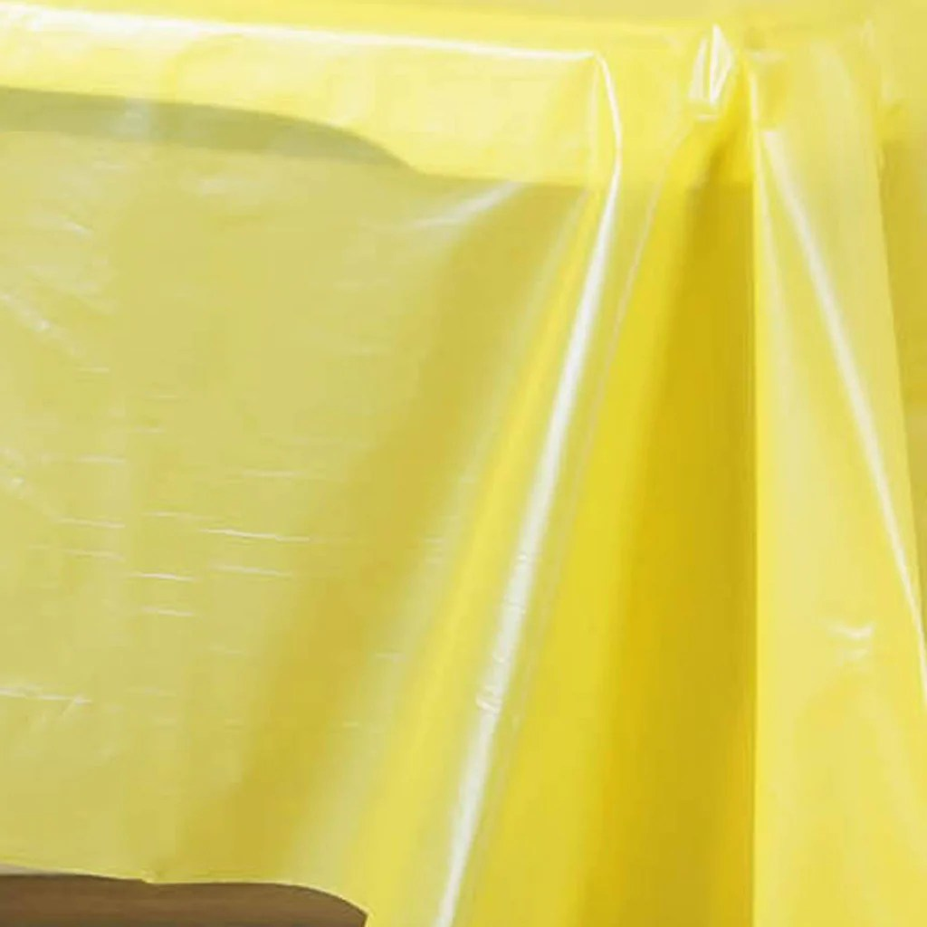 disposable plastic chair covers for parties comfortable sofas and chairs 54 quotx108 quot wholesale yellow 10mil thick