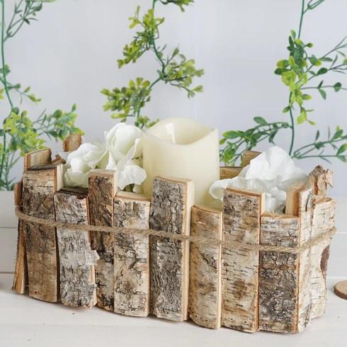 Wooden Candle Holders Flower Vase Rustic Wedding Centerpieces Efavormart