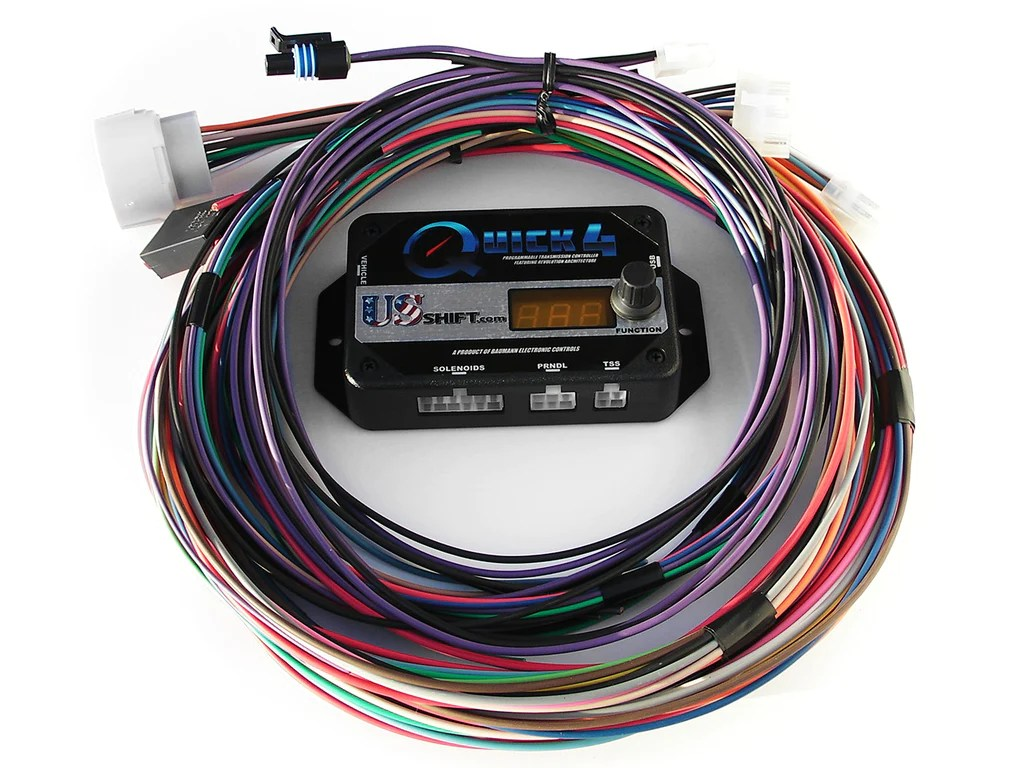 medium resolution of us shift quick 4 with gen 1 lightning e4od harness matt hill motorsports llc