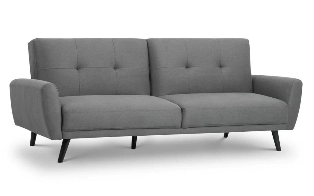 grey fabric sofa uk printable dollhouse monza retro bed in discountsland co