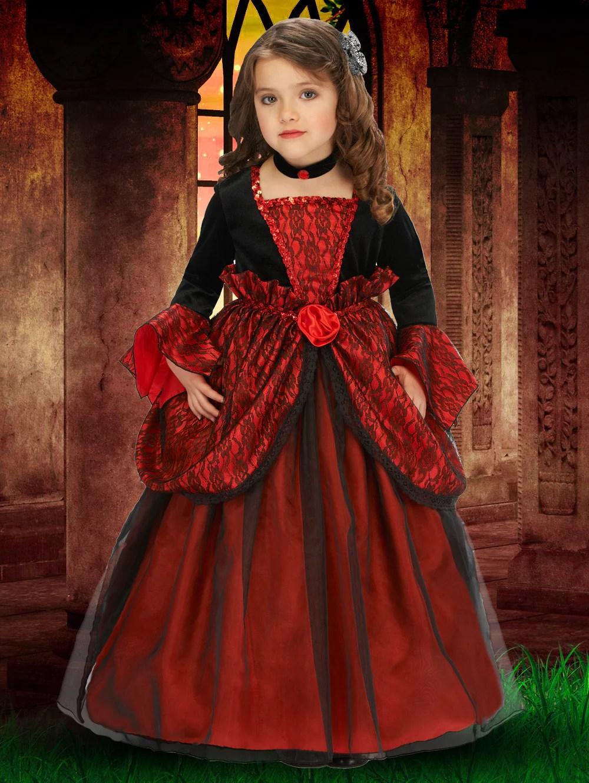 Vampire Princess Dress Pretend Kids