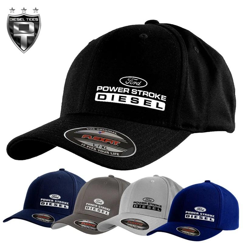 Ford Power Stroke Flex Fit Hats Diesel Tees