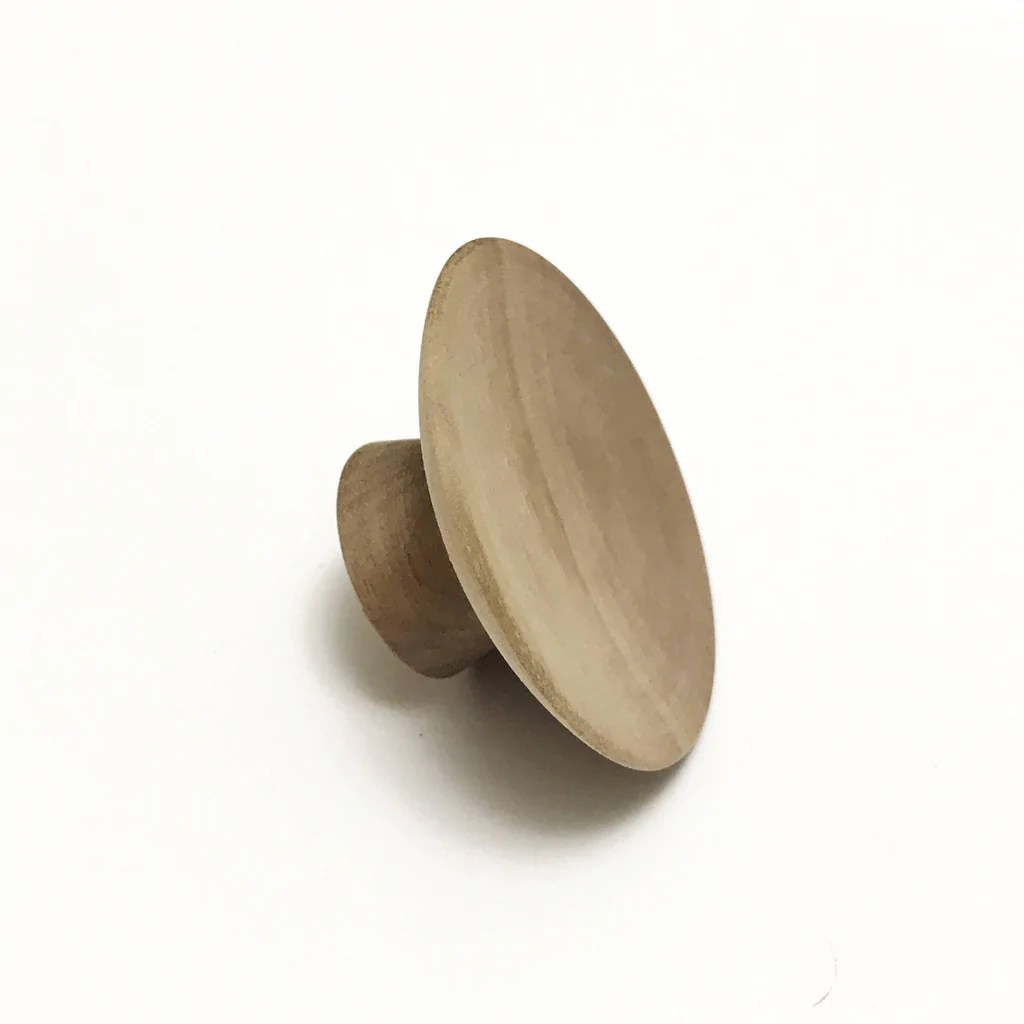 Wood Drawer Knobs  Midcentury Modern Cabinet Pulls