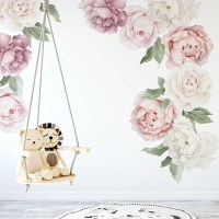 Peony & Rose Individual Wall Decals  Ginger Monkey