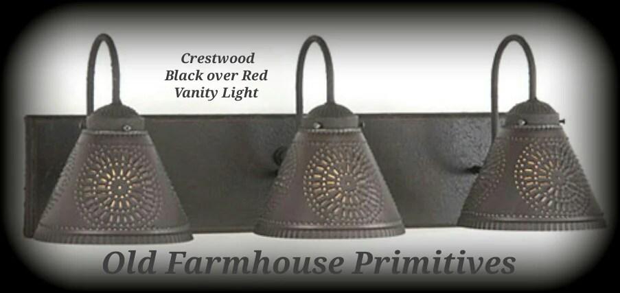 Crestwood Primitive Bathroom Vanity Light Old Farmhouse