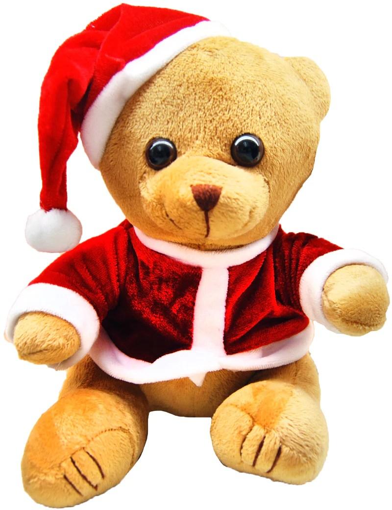 christmas themed plush teddy