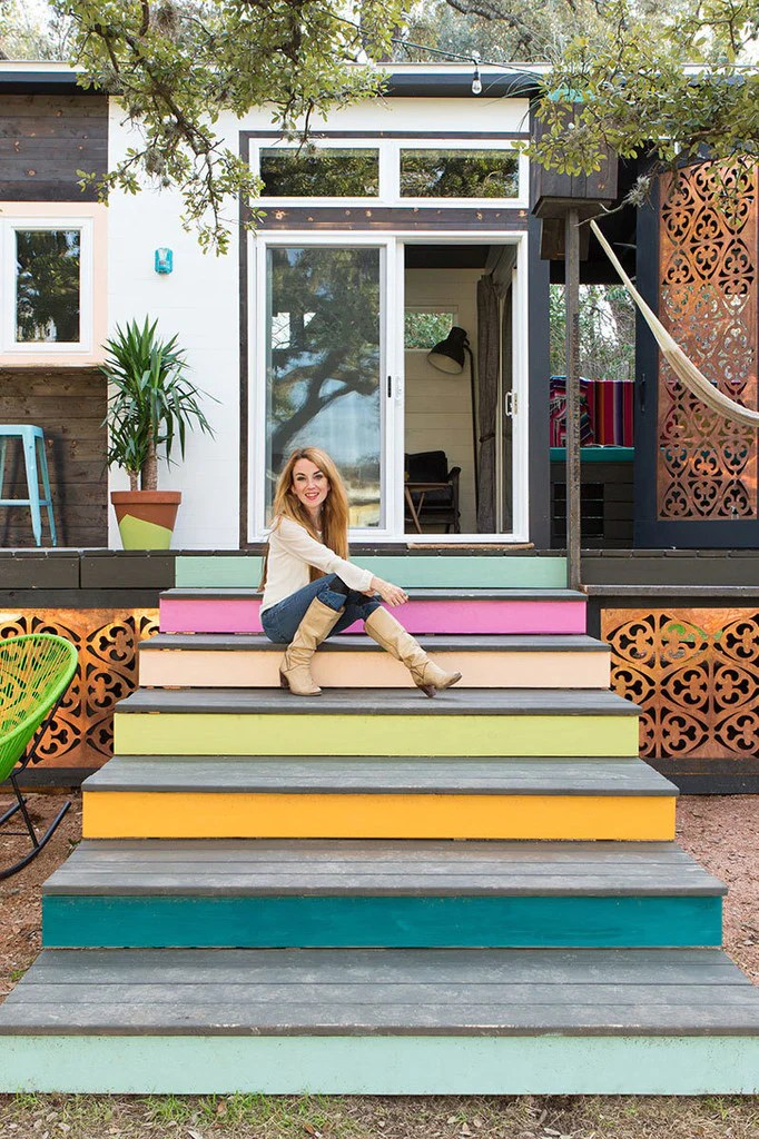 400 Sqft Colorful 2 Trailer Mid Century Marfa Tiny House