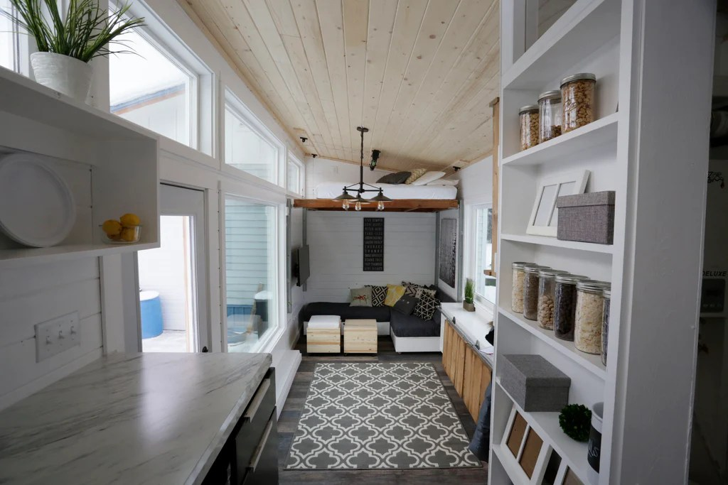 Open Concept Rustic Modern Diy Tiny House By Ana White