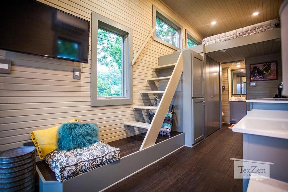 The Single Loft Tiny House By Tex Zen Tiny Home Co In